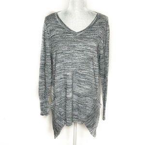 LOGO Lori Goldstein Sweater Tunic Long Sleeve